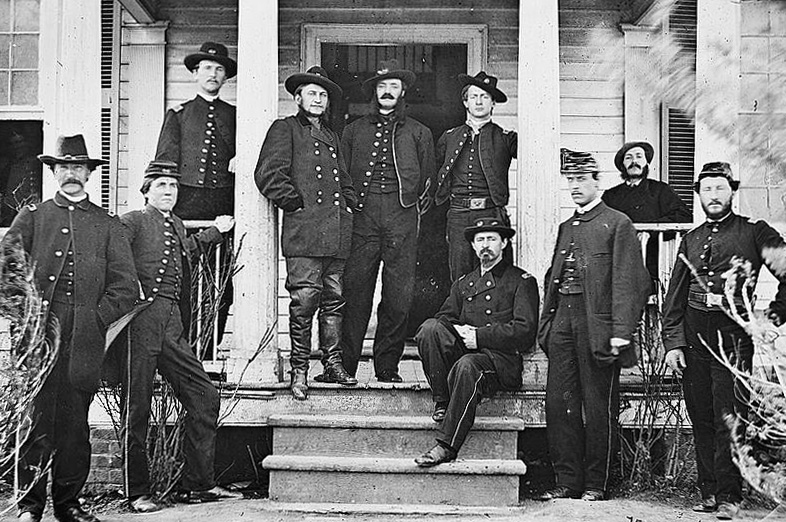 General Kilpatrick and his staff, Brandy Station, Virginia.
