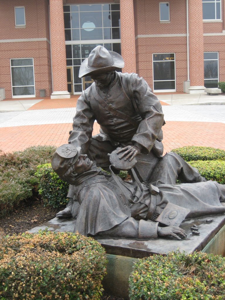 Statue of Richard Kirkland giving water to a wounded soldier