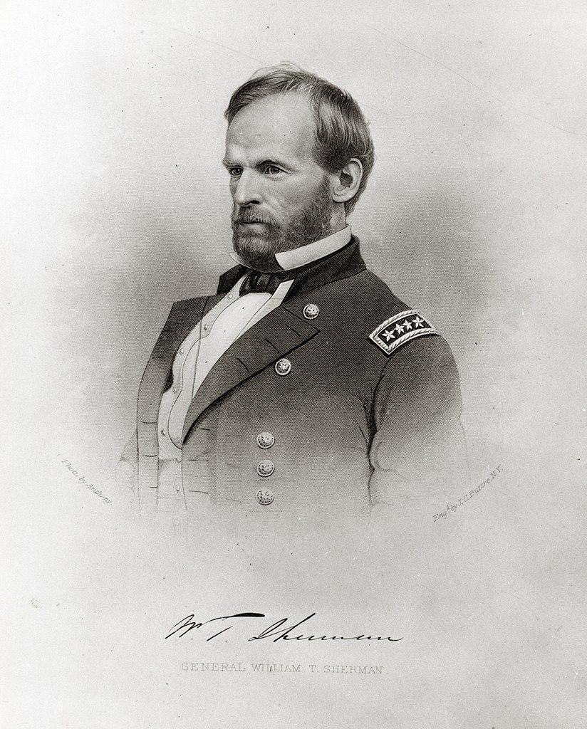 Engraving of General William T. Sherman