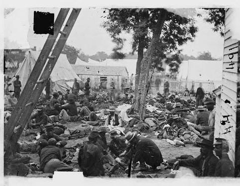 Union field hospital, Savage Station, Virginia, June 1862.
